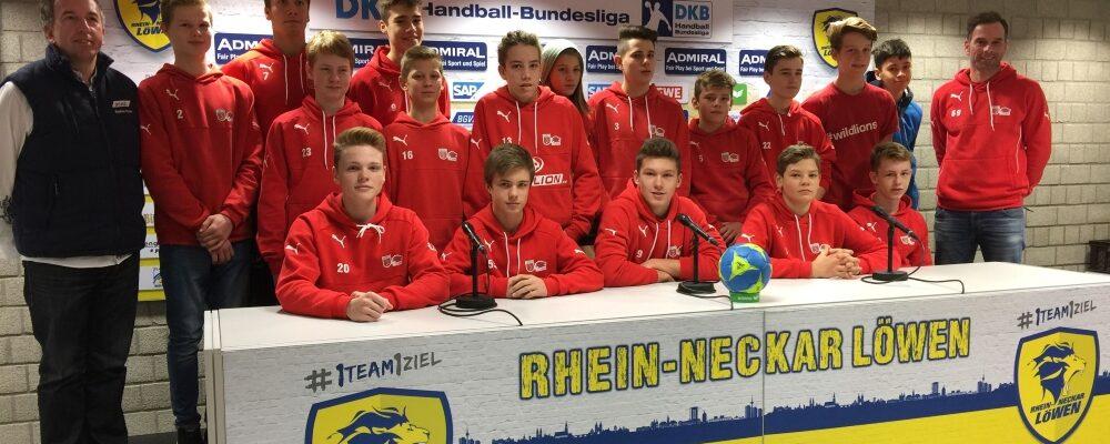Besuch der mC-Jugend beim Spitzenspiel Rhein-Neckar-Löwen gegen die Füchse Berlin