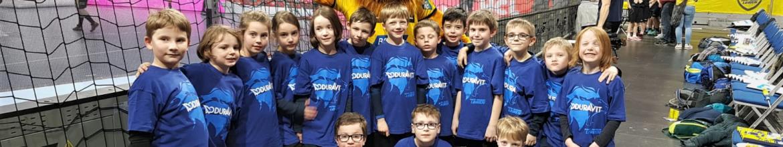 SGL Minis Einlaufkinder beim Spiel der Rhein Neckar Löwen gegen die MT Melsungen